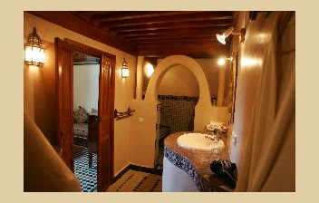 the bathroom of the Attarine room