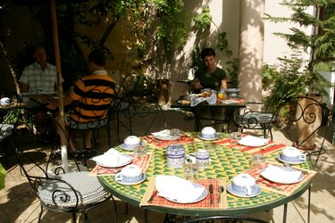 meals served in the riad's garden