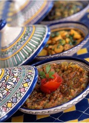 we serve a refined Moroccan cuisine